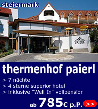 Wellnesswoche Thermenhof Paierl ab 785 euro